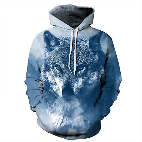 cxzas852 3D Hoodies Männer drucken EIS und Feuer lustige Männer lose Sweatshirt Pullover Herbst Kleidung Streetwear Hoody