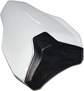 Motorcycle Rear Passenger Pillion Seat Cowl Fairing Cover For DUCATI 848 1098 1198 All Year (White)
