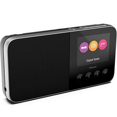 Pure Move T4 Bluetooth Taschenradio (DAB/DAB+ Digital & UKW-Radio mit Bluetooth, 2-Zoll-Farbdisplay, Weckfunktionen, Sleep-Timer & 15 h Akkulaufzeit, Lautsprecher integriert), Schwarz