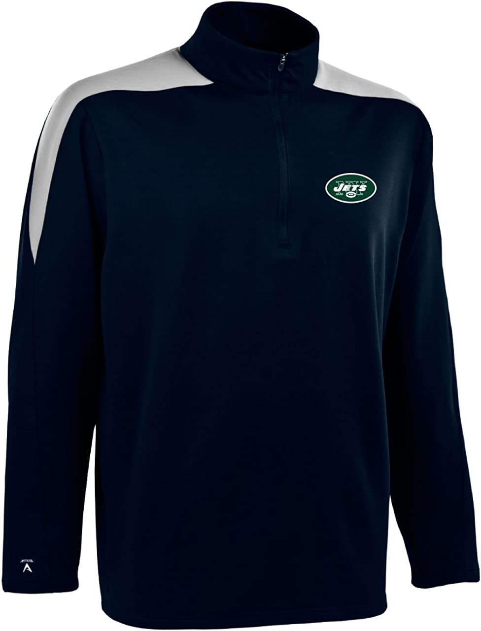 Limited price sale NFL Men's New York Sacramento Mall Jets Zip Pullover Jersey 1 2