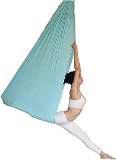 wellsem Deluxe L:5.5 Yards W:3 Yard Pilates Yoga Flying Swing Aerial Yoga Hammock Silk Fabric for Yoga Bodybuilding(5mx2.8m)