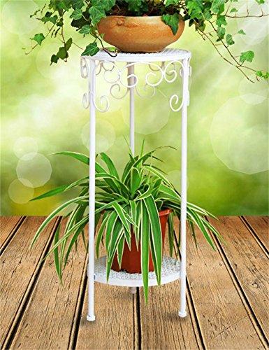 De style européen Fer Flower Pot Rack Creative Balcon Salon multi-couche Flower Pot Shelf (couleur : Blanc, taille : 50 cm)
