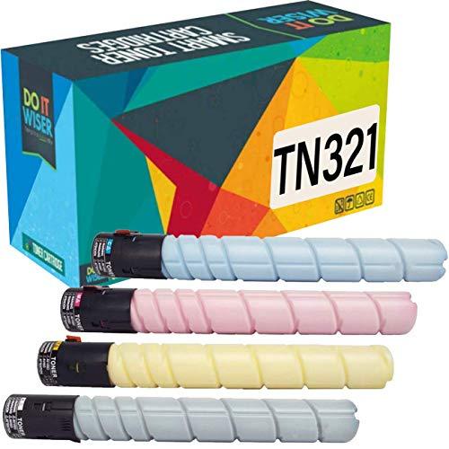 Do it wiser kompatible Toner als Ersatz für Konica Minolta BizHub TN321 C224e C284e C224 C284 C364 C364e A33K150 A33K450 A33K350 A33K250 (4er-Pack)