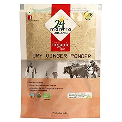 24 Mantra Organic Ginger Powder, Dry, 7 Ounce