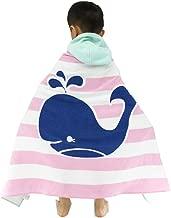 HOMAGIC2WE Children Hooded Towel Cotton Beach Towels Poncho Swim Bath Robe Dolphin