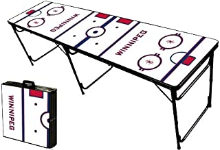 8-Foot Professional Beer Pong Table w/Optional Cup Holes - Winnipeg Hockey Rink Graphic