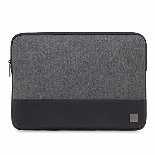 Knomo 43-102-BKG'Holborn' Sleeve for 14-Inch Laptop - Black/Grey