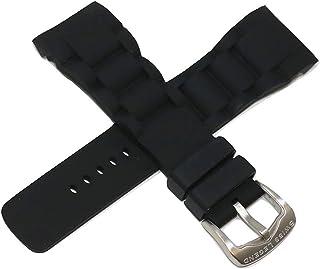 Swiss Legend 29MM Black Silicone Rubber Watch Strap & Silver Buckle fits 47mm Commander Watch