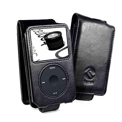 Tuff-Luv custodia di pelle napa per Apple iPod Classic 80GB / 120GB / (160GB - Edizione del 2009 solo) - nero