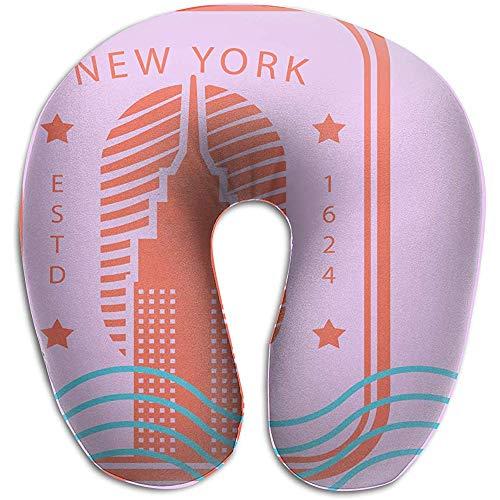 U-Förmiges Nackenhörnchen,New York Pillows Soft Portable für das Reiseleseschlafen