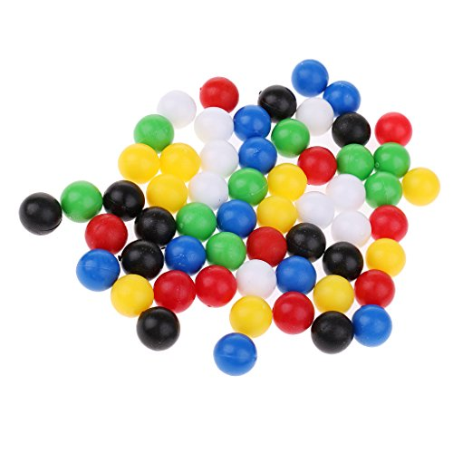60 Piezas De Bolas De Plástico De 1 Cm para La Conexión De Madera De Cuatro Bolas En Un Juego De Filas