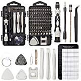 SHARDEN Precision Screwdriver Set, 122 in 1 Electronics Magnetic Repair Tool Kit with Case for Repair Computer, iPhone, PC, Cellphone, Laptop, Nintendo, PS4, Game Console, Watch, Glasses etc (Gray)