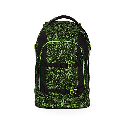 Satch pack Schulrucksack - ergonomisch, 30 Liter, Organisationstalent - Green Bermuda - Schwarz