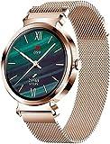 CNZZY SD-1 Smart Watch Orologio da donna con contapassi per fitness e monitoraggio della frequenza cardiaca con orologio da donna IOS Android (F)