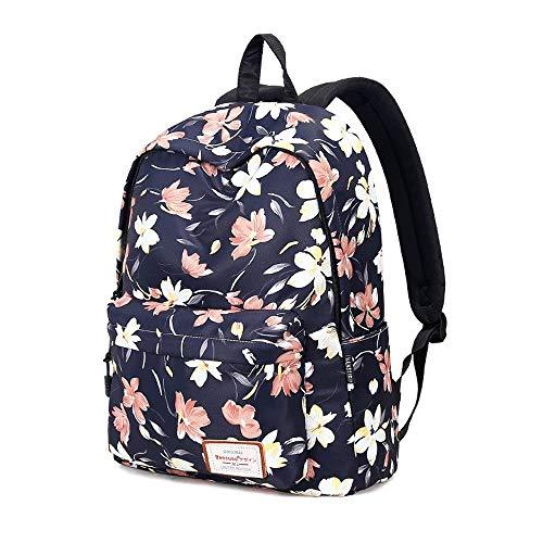 Vinteen Druck Rucksack weiblich High Capacity Reisetasche Schüler Schultasche wasserdichte Schultasche Laptop-Tasche Umhängetasche Beutel-Rucksack der Frauen, Laptop Anti-Diebstahl-Business Travel Ruc