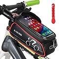 Zacro 3 in 1 Fahrrad Rahmentasche - Wasserdicht Handyhalter Fahrrad Handytasche Handy - Oberrohrtasche mit Kopfhörerloch - Fahrrad Reifenheber Reflektierend für Smartphone unter 6,0 Zoll