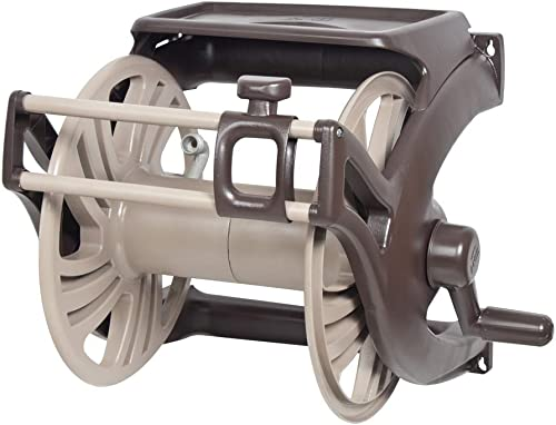 lowest AMES 2415500 NeverLeak Poly Wall Mount Reel with Manual Guide and Tray, new arrival 225-Foot 2021 Hose Capacity outlet sale
