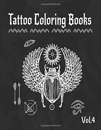 Tattoo Coloring Book: A Coloring Pages For Adult Relaxation With Beautiful Creative Modern Flash Tattoo Designs Classic Style Such As Sugar Skulls, ... and Awesome More! (Body Art & Tattoo, Band 4)