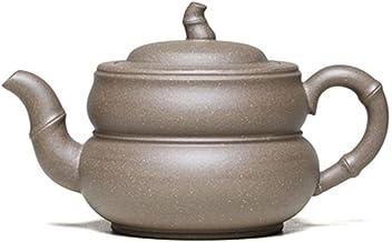 QinMei Zhou Fluke teapot Famous Handmade Bamboo ore Segment mud teapot Tea (Color : Grey)