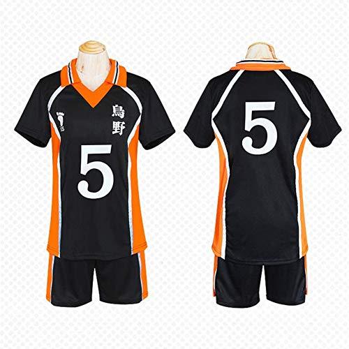 GGOODD Anime Haikyuu Yamaguchi Tadashi Cosplay Costume Halloween Party Tägliche Kleidung Herren Sportbekleidung Volleyballanzug Gymnasium 12# Jersey Uniform,5#,S