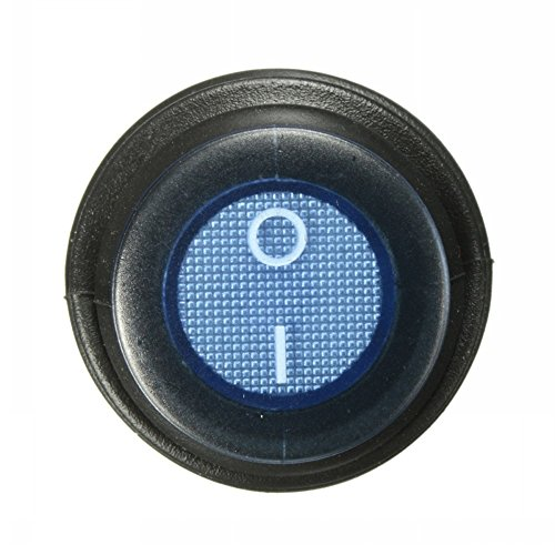 Ungfu Mall, 1 interruttore a bascula on/off a 3 pin, a contatto SPST, con luce LED 12 V/12 A, impermeabile