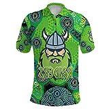 GWCASA 2021 Camiseta de Rugby para Hombres Adultos, Melbourne Maori Mustang Cowboy Inglés en inglés Jersey, Top de Uniforme de Entrenamiento de Secado rápido, Sudadera de m Raiders-4XL