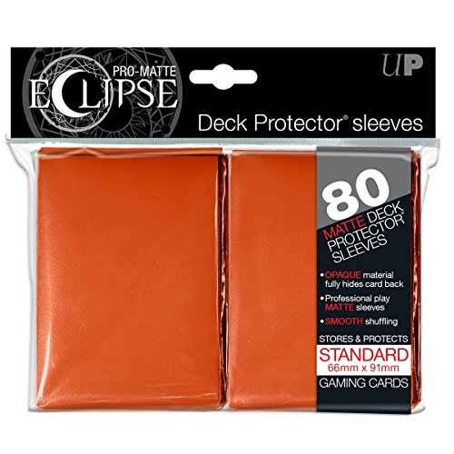 Ultra Pro pro-matte Eclipse Standard Sleeves (Hüllen) – Orange (80 sleeves, hüllen) – 85113