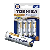 TOSHIBA AA Akku Batterien min. 2250 mAh, Ready-to-Use NI-MH, 1.2V 4er Pack