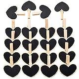JEANGO Mini Clip de Pizarra en Forma de corazón 20pcs Tablero de Mensajes Titular de la factura Forma de Amor Adecuado para la Tabla Tarjeta Nombre Nombre Precio DIY Decoración Decoración