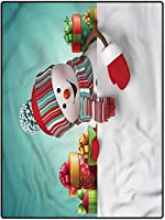 カーペット 滑り止め付 厚手 マット 180*280 クリスマスの反静的な敷物の床のカーペットは子供のためのマットを遊ぶ赤ん坊の女の子の雪だるまおよび箱 オールシーズン使えるタイプ 防ダニ・抗菌・防臭 キッチンに適用
