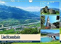 Liechtenstein - zwischen Rhein und Hochgebirge (Wandkalender 2022 DIN A4 quer): Der Alpenstaat Liechtenstein mit seiner Hauptstadt Vaduz liegt im schoenen Alpenrheintal und begeistert mit seinen Staedten, Schloessern und Landschaften. (Monatskalender, 14 Seiten )
