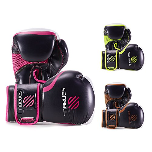 Sanabul Essential Boxing Gloves Pink 8-OZ