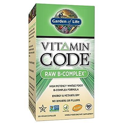 Garden of Life Vitamin B Complex - Vitamin Code Raw B Vitamin Whole Food Supplement, Vegan, 120 Capsules