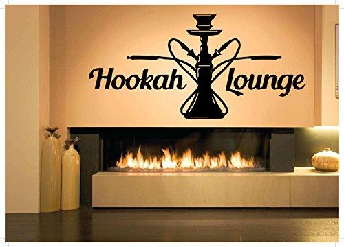 Vinyl Sticker Decal Wall Decor Poster Art Shisha Hookah Word Tribal Vase Bottle SetLounge Water Pipe House Cafe Smoke Shop Store Indoor Outdoor Sign Set SA825