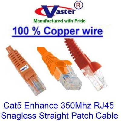 Orange Color Ethernet Network Patch Cable UL 24Awg 100/% Copper SuperEcable SKU-20674 7 Ft UTP Cat5e