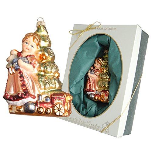 Krebs Glas Lauscha Christmas ciondolo Marys dell' albero di Natale multicolore