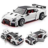 HEDI Juego de construcción de coche deportivo para Nissan GT-R NISMO, modelo de coche de carreras compatible con Lego Technic -1322 bloques de construcción