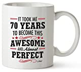 70th Birthday Gifts For Women Seventy Years Old Men Gift Mugs Happy Funny 70 Mens Womens Womans Wifes Female Man Best Friend 1951 Mug Male Unique Ideas 50 Woman Wife Gag Dad Girls Guys Good Husband