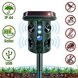 NearPow Repelente para Gatos,Ristente al Agua,Repelente ultrasónico para Animales,con LED,Uso en...