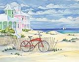 Home-Feeling ART-STAMPA-per-telaio-spiaggia-incrociatore-Cottage-I-Brent,-Paul-Costiera-29x37_in