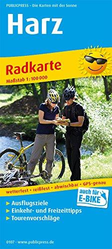 Harz: Radkarte mit Ausflugszielen, Einkehr- & Freizeittipps, wetterfest, reissfest, abwischbar, GPS-genau. 1:100000
