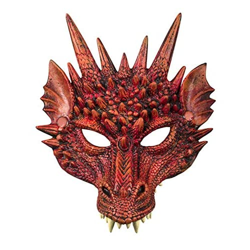 Boland 72191 - Maschera Semi-Maschera da Diavolo, Colore: Rosso