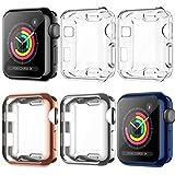 LORDSON [6 Piezas] Funda Compatible con Apple Watch Series 3 / 2 / 1 38mm Estuche Protector , TPU Pantalla Cubierta de Protectora Anti-rasguños Compatible con iWatch Series 3/2/1 (38mm)