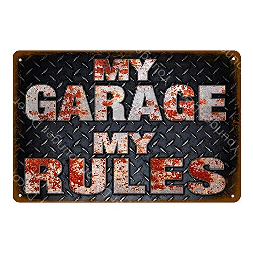 Tong99 Garage reclamebord metaal poster vintage antieke muursticker auto bus auto benzine olie banden winkel deco schilderij logo 20x30 cm