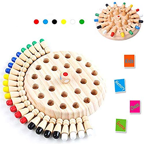 Sunshine smile ajedrez de Memoria,ajedrez de Memoria Montessori,ajedrez de Memoria de Madera,ajedrez de Palo de Memoria de Madera,Niños ajedrez de Memoria,Juguetes cognitivos de Color para niños