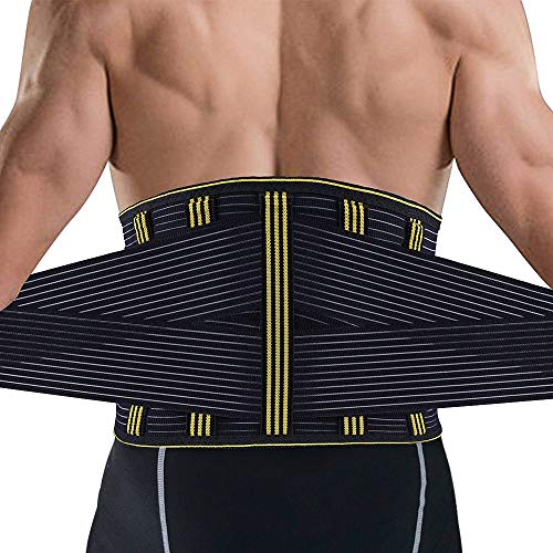 SZ-Climax Lumbar Support Belt - Back Bace for Women Men - Waist Back Support Belt with Removable Metal Spring Strip for Back Pain Relief, Sciatica, Spinal Stenosis, Scoliosis or Herniated Disc
