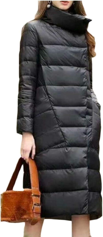 XQS Women's Long Maxi Winter Down Parka Down Coat Warm Puffer Jacket