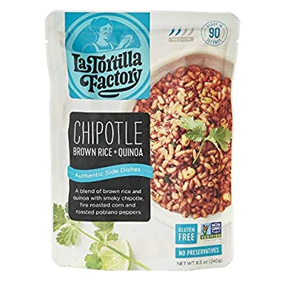 La Tortilla Factory Authentic Side Dishes, Chipotle Brown Rice & Quinoa, 8.5-Ounce, 6 Packages