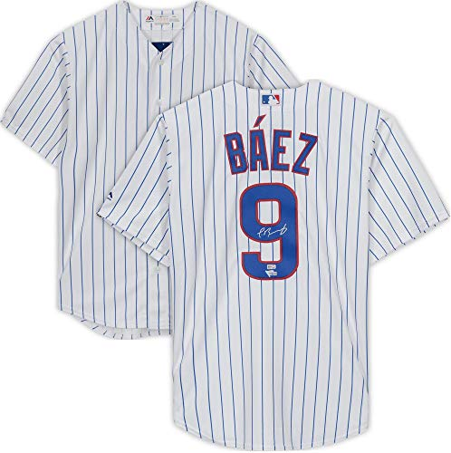 Javier Baez Chicago Cubs Autographed Majestic Replica White Jersey - Autographed MLB Jerseys