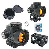 AERITH BLACK 最新改良レンズ サークルドットレティクル Tr MRO タイプ レプリカ ドットサイト ダットサイト 電池 キルフラッシュ付 ローマウント 軽量 ハイマウント 刻印入り MRO (HDNO1)